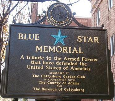 Blue Star Marker & Blue Star Memorial By Way